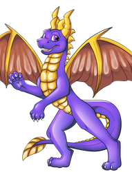 Spyro the Dragon PNG by Caitybee