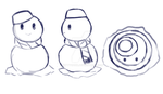 Sketch-a-day 7- Snowman - Angles by Kitty101ck