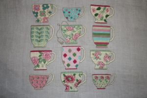 Tea cups by StitchingDreams