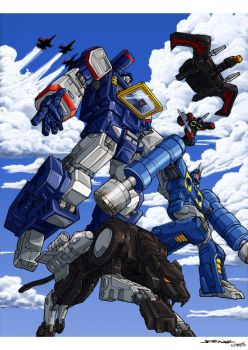 Gen 1 Soundwave and Gang by 1DB