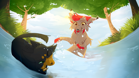 Too Wet for Comfort |Commission| by splashamantha