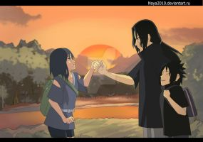 The first meeting with Itachi by Naya2010