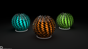 Distorted Spheres (5k) by Dario999