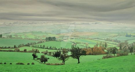Early November View From Curraghdermot by eastcorkpainter