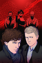 Titan Comics: Sherlock The Blind Banker #6 Cover by doubleleaf