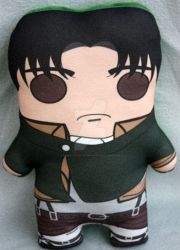 Levi inspired plush by Cyber-Scribe-Screens
