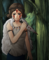 Princess Mononoke by strawberryjamm
