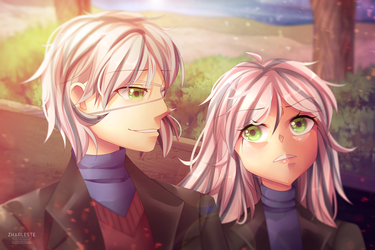 Sibling Time (Art Contest Entry) by Zharleste