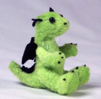 Lime Green Baby Dragon Plush by The-GoblinQueen