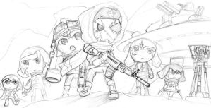 Sketch: The Warriors by Prafa-AR