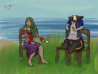 TeaTime with Tloray Sketch by altimis
