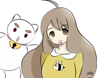 Bee and Puppy cat by kiritomj02