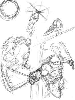 Concept For Tmnt Print by ConstantScribbles