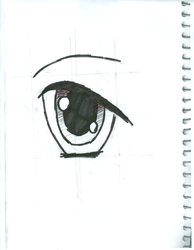 Eye with ink by XxRoset-828xX