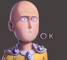 One face a day #14/365. Saitama OK (One Punch Man) by Dylean