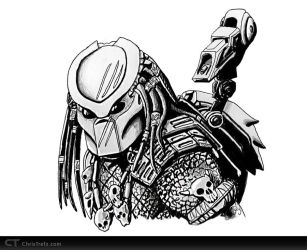 Predator Sketch by chris-illustrator