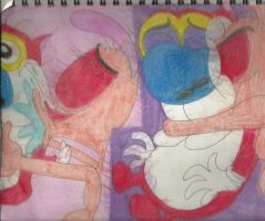 Ren Kisses Stimpy 1 by RozStaw57