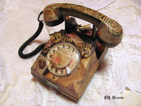 Mihaela (1) Steampunk telephone by fbronnie