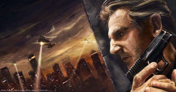 Taken 3 - Liam Neeson Digital Painting by minifong
