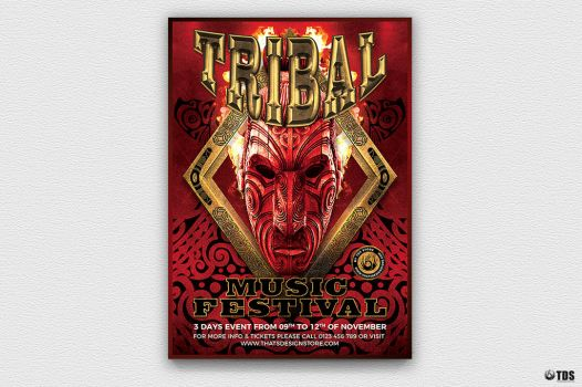 Tribal Music Festival Flyer Template by Thats-Design