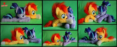 Sunburst and Starlight Glimmer - Plush by Lavim