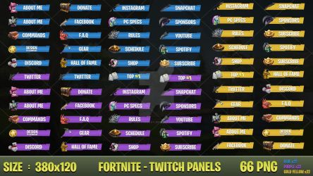 BUNDLE  Fortnite - Twitch Panels by LoL-Overlay
