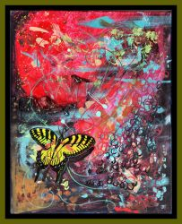 Butterfly Insect Bug Animal Red Yellow Rainbow by StephanieSmall