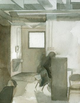 Watercolor class interior by Zirngibl
