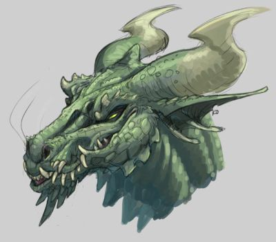 Green Dragon by is-chimera