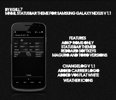 MNML Statusbar Theme for Samsung GNEX v1.1 by kgill77