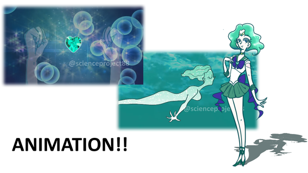 Sailor Neptune Animation! by PlantAsteroid