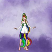 Tari Nijine's Lovely Rainbow Hair by Ellecia