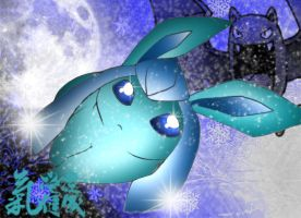 Glaceon :coloured: by PokeHeart