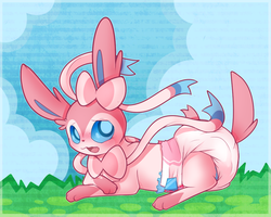 Pink Fluffy Pokemon by Hourglass-Sands