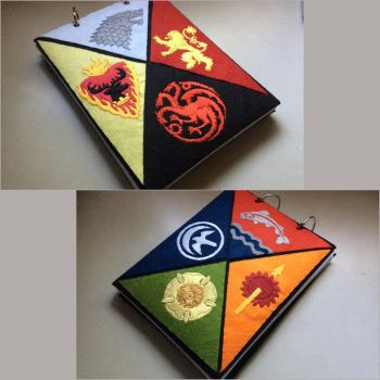Game of Thrones House Sigil notebook cover by luminaireterrial