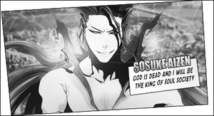 Aizen Comic Style Tag Black/White by TattyDesigns