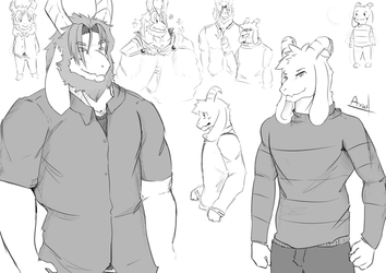 DAD_AND_SON_SKETCH by axaeldraw