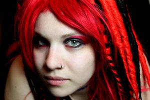 Red black Goth by WednesdayStock