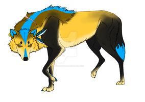 Liza Healer Wolf(Wolf Quest RolePlay Character) by cristalheart7
