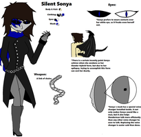 Silent Sonya (Updated) Ref included below by CreepyNightcoreDemon