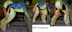 Nora Ceberus Quadsuit, Body foaming wip by 10kk