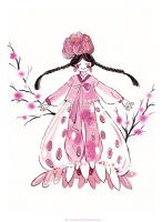 Strawberry Hanbok by Lovepeace-S