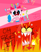Happykitty and Angrykitty by Teddie4Ever01