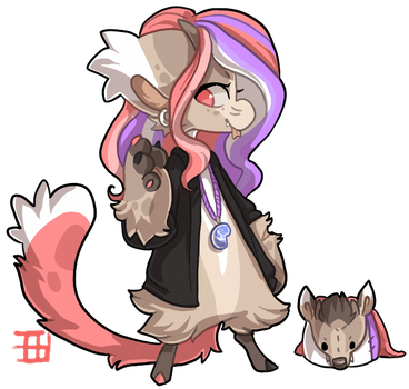 #704 Bagbean w/m - Tufted deer by griffsnuff