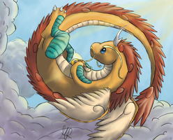 Mega Dragonite: King of the skies