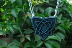 Celestial necklace with celtic knot by titaniaUMN