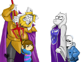 Draw the Squad: Toriel's Glare by TooManyContinues