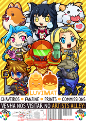 LuviMat poster for CCXP by lumi-mae