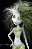 MH monster high repaint15 Frankie mermaid portrait by phairee004