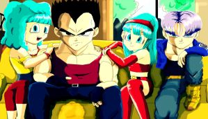 Vegeta Married with Children by d-latt
